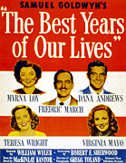 1946 Movies Posters - The Best Years Of Our Lives, Myrna Loy Poster by Everett