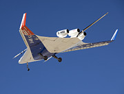 Aeronautics Prints - The Blended Wing Body X-48b Soars Print by Stocktrek Images