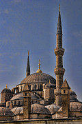 Tourist Attraction Prints - The Blue Mosque in Istanbul Turkey Print by David Smith