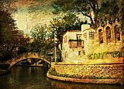 Riverwalk Prints - The Bridge Print by Iris Greenwell