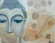 Forgiveness Paintings - The Buddha by Puja Chakravarty