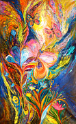 Kabbalah Art - The Butterflies by Elena Kotliarker