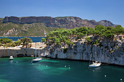 Azur Framed Prints - The Calanques Framed Print by Brian Jannsen