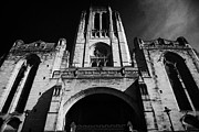 Anglican Photos - the Cathedral Church of Christ arch and vestey tower belltower Liverpool Anglican Cathedral  by Joe Fox