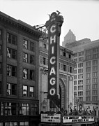 Movie Theater Framed Prints - The Chicago Theater, Constructed Framed Print by Everett