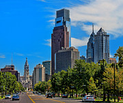 Benjamin Franklin Parkway Photos - The City Of Brotherly Love by Lanis Rossi