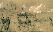 War Drawing Prints - The Civil War. The Army Telegraph - Print by Everett