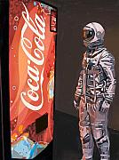 Science Fiction Tapestries Textiles Posters - The Coke Machine Poster by Scott Listfield
