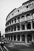 Rome Photos - The Colosseum at dusk Rome Lazio Italy by Joe Fox