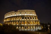 Roman Ruins Posters - The Colosseum At Night Poster by Stephen Alvarez