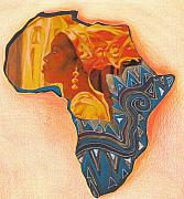 Featured Jewelry Prints - The continent Print by Bernadett Bagyinka