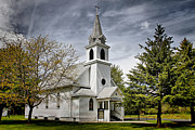 Souls Prints - The Country Church Print by Wayne Stabnaw