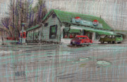 Sharks Pastels - The Cracker Barrel by Donald Maier