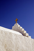 White Church Prints - The Cross Print by Joana Kruse