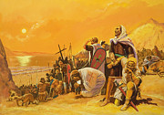 Harsh Conditions Painting Posters - The Crusades Poster by Gerry Embleton