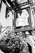 Hanging Baskets Posters - The Crutched Friar pub London Poster by David Pyatt