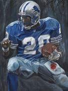 Detroit Lions Paintings - The Cutback by David Courson
