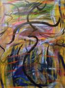 Abstracts Paintings - The Dance by Leslie Revels Andrews