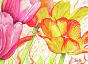 City Garden Prints - The Dance of Spring Print by Christine Belt