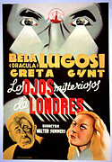 Spanish Poster Art Posters - The Dark Eyes Of London, Aka The Human Poster by Everett