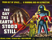 Stood Metal Prints - The Day The Earth Stood Still, 1951 Metal Print by Everett