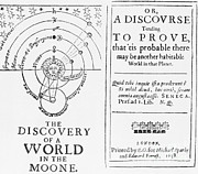 Speculative Prints - The Discovery Of A World In The Moone Print by Science Source