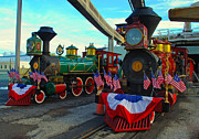 Disney Photographs Framed Prints - The Disney Trains Framed Print by Drew Green