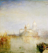Maria Framed Prints - The Dogana and Santa Maria della Salute Venice Framed Print by Joseph Mallord William Turner
