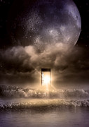 Moonlit Digital Art Prints - The Door Print by Svetlana Sewell