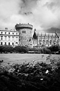 Royal Chapel Photos - The Dubhlinn Gardens The Norman Record Tower State Apartments And Chapel Royal Of Dublin Castle by Joe Fox