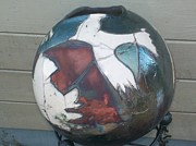 Raku Ceramics - The Eagle by Susan Bornstein