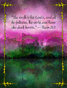 Living Waters Paintings - The Earth is the Lords by Christopher Gaston