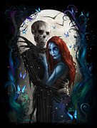 Zombies Framed Prints - The Embrace Framed Print by Alex Ruiz