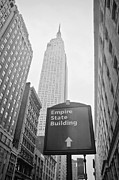 Black Top Acrylic Prints - The Empire State Building in New York City Acrylic Print by Ilker Goksen