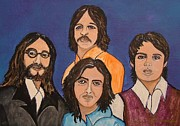 Fab Four  Paintings - The Fab Four Beatles  by Lois    Rivera