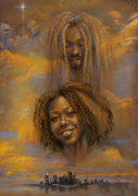 African American Pastels - The Faces of God by Gary Williams