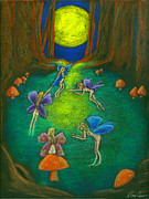 Magical Pastels Prints - The Faery Ring Print by Diana Haronis