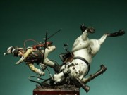 Military Sculptures - The Fall by Ludovico Carrano