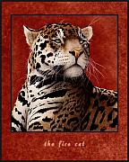 Wild Cat Prints - The Fire Cat... Print by Will Bullas