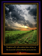 Inspirational Poster Framed Prints - The First Horizon Framed Print by Phil Koch