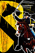 Cowboy Mixed Media Posters - The First Team Poster by Michael Figueroa