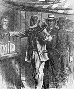 Black Man Prints - The First Vote, 1867 Print by Photo Researchers
