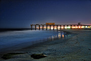 Fishing Pier Posters - The Fishing Pier Poster by Paul Ward