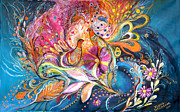 Kabbalah Art - The Flowers of Sea by Elena Kotliarker