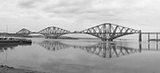 White Digital Art Posters - The Forth - Scotland Poster by Mike McGlothlen