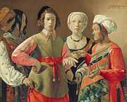 Beautiful Women Prints - The Fortune Teller Print by Georges de la Tour