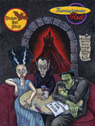Frankenstein Posters - The Fried of Blankenstein Poster by Holly Wood