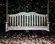 Cottage Chic Posters - The Garden Bench Poster by Lisa Russo