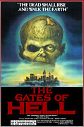 1980s Prints - The Gates Of Hell, Aka Paura Nella Print by Everett
