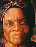 Mother Pastels Metal Prints - The Gaze Of Mother Witt Metal Print by Curtis James